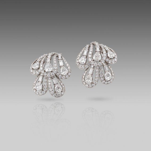 , 'A Pair of Mid 20th century Diamond Earrings by Cartier,' Paris-Circa 1950, Koopman Rare Art