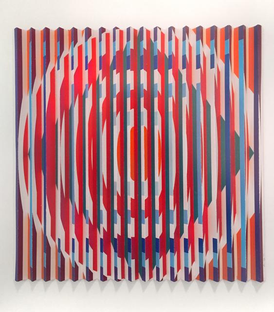 , 'orchestration visuelle cercles carrés,' 2005, Galerie Denise René