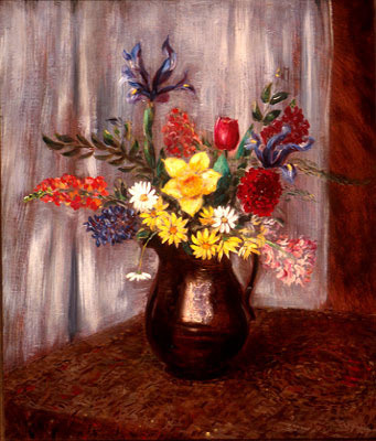 , 'Flowers in a Copper Jug #2,' 1944, Kiechel Fine Art