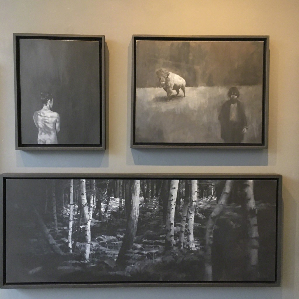 'These Dark Woods | 'Still' and 'Perimeter' and 'Bestiary | Gatherer' by Allan Martin