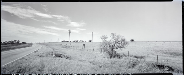 , 'West Fort, Trinity River, looking west on western edge of north east of Olney, Texas, October 24, 1990,' 1990, Fort Worth Contemporary Arts