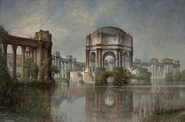 , 'Palace of Fine Arts and the Lagoon,' 1923, de Young Museum