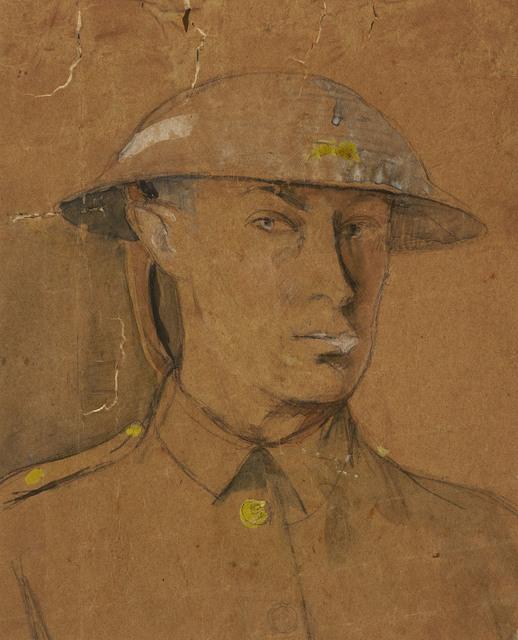 , 'Self-Portrait in Steel Helmet,' 1916, Ben Uri Gallery and Museum