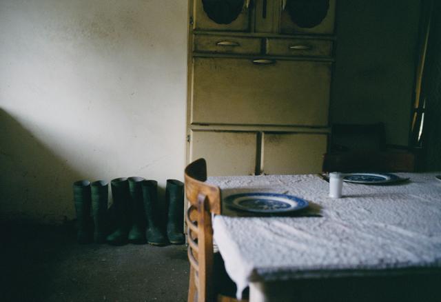 Justin Partyka, 'Farmhouse Kitchen with Table and Boots, Norfolk', 2008, Osborne Samuel