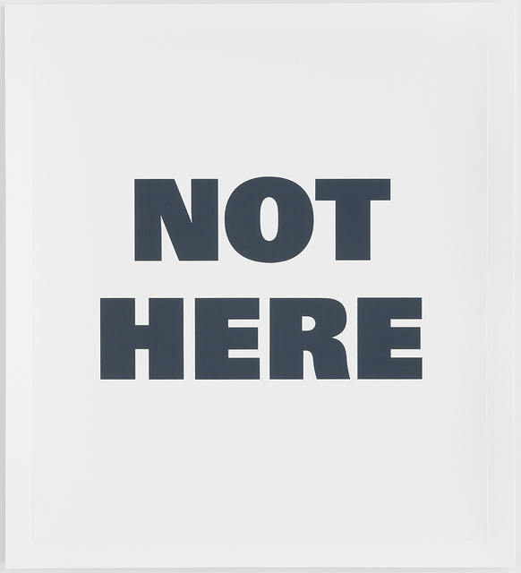 Remy Zaugg, 'Not Here', 1990-1995, Mai 36 Galerie
