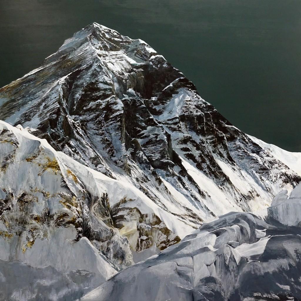 Gabriele Angel Leinenbach, Everest III, 2017, 120 x 120 cm, Acryl auf Holzbox