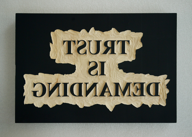 , 'Trust is Demanding,' 2018, Dirimart