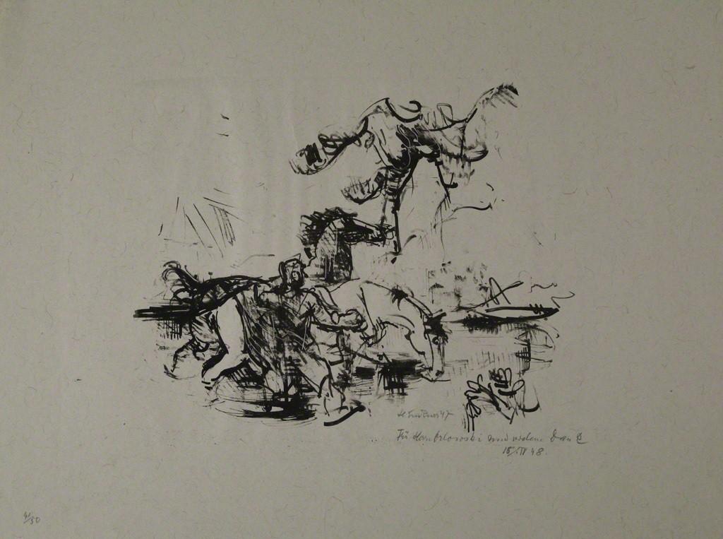 Heinrich Graf von Luckner | Pferdetränke (1947) | Available for Sale ...