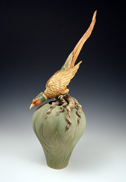 , 'Crouching Pheasant,' 2017, Wood Symphony Gallery