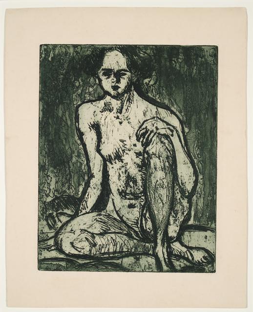 Ernst Ludwig Kirchner, 'Sitzender Mädchenakt', 1907, Henze & Ketterer & Triebold