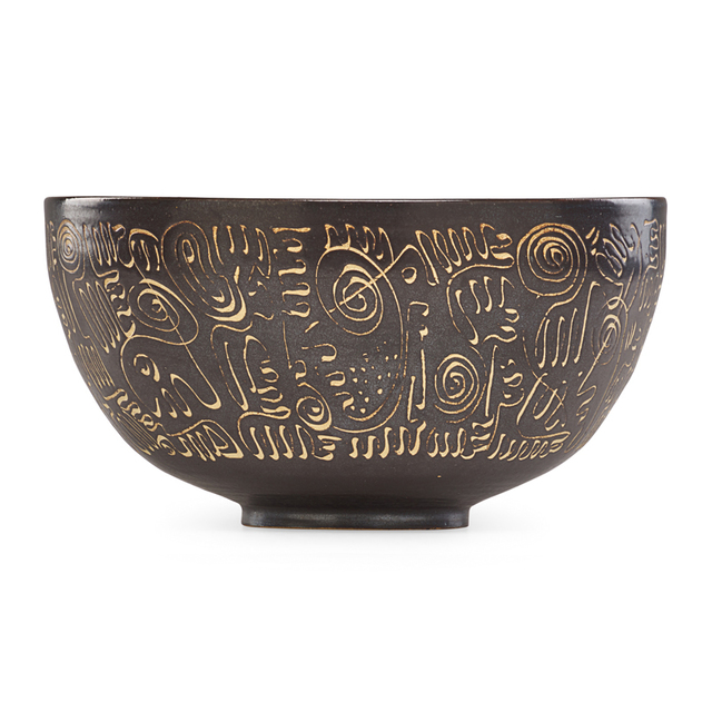 Edwin Scheier, 'Large and early bowl with abstract design', Rago/Wright