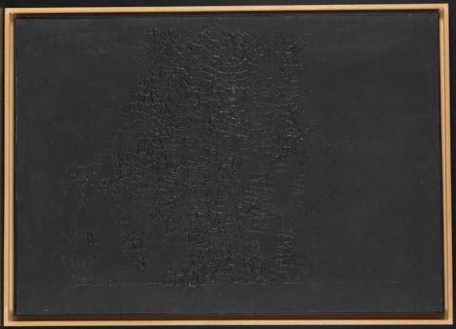 , 'Cretto Nero F,' 1971, Setareh Gallery