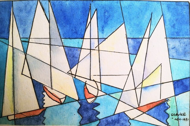 , 'Sailboats,' 1951, Luvey 'n Rose