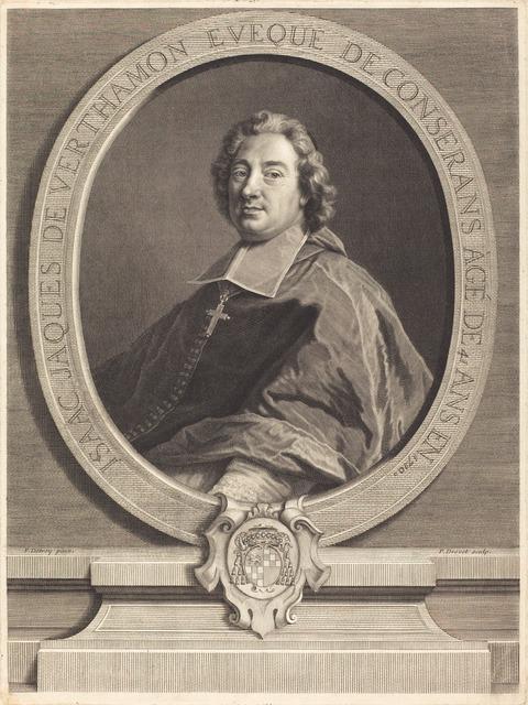 Pierre-Imbert Drevet after Francois de Troy, 'Isaac-Jacques de Verthamon', Print, Engraving, National Gallery of Art, Washington, D.C.