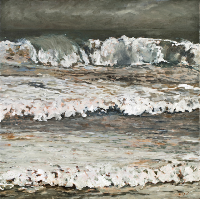 Kristen Garneau, 'Muir Beach Storm', 2018, Painting, Oil on canvas, Seager Gray Gallery