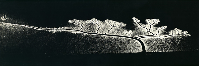 , 'Reflection of the Sun on Dendritic Flow, San Francisco Bay, California,' 1963-probably printed in the 1979, Scott Nichols Gallery