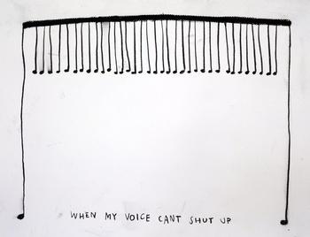 , 'When My Voice Can't Shut Up,' 2015, Carroll / Fletcher