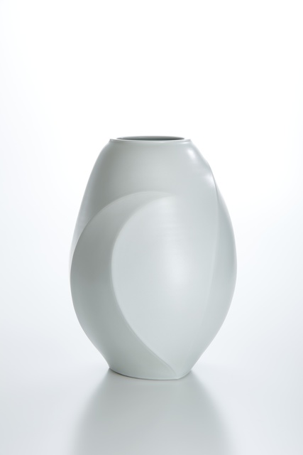 , 'Sculpted White Porcelain Vase with Moon Patterns,' 2014, Onishi Gallery