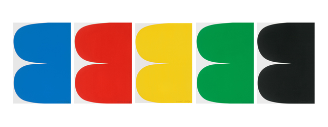 Ellsworth Kelly, 'Blue, Red, Yellow, Green, and Black Curves ', 2012-13, Matthew Marks Gallery