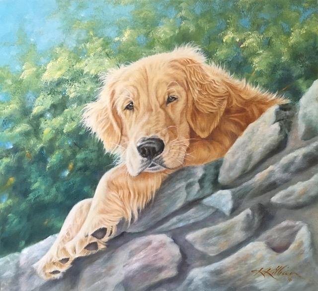 ", '""On the Rocks"",' 2017, Dog & Horse Fine Art"