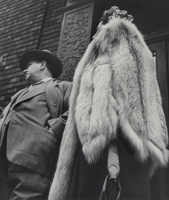 Leon Levinstein, 'Man in Suit, Woman in Fur Coat', 1954-printed later, Heritage Auctions