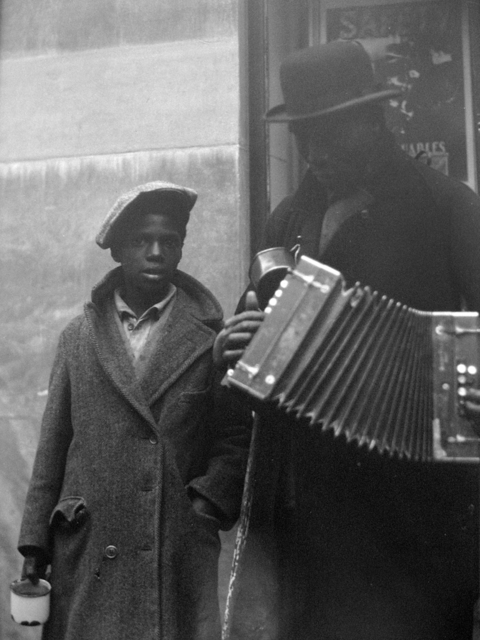 John Albok, 'Blind Musician and Son, Harlem', 1931, PDNB Gallery