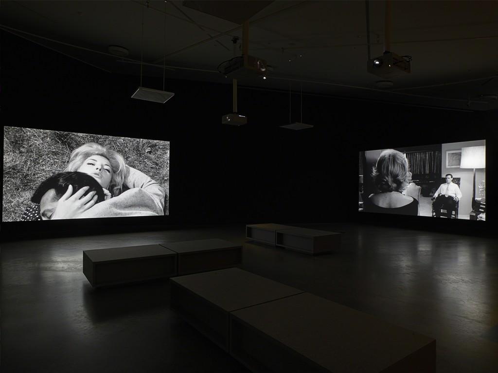 """Installation view of """"Michelangelo Antonioni - Il maestro del cinema moderno"""" at EYE Film Institute, Amsterdam, 2015. ®Studio Hans Wilschut/EYEFILM"""