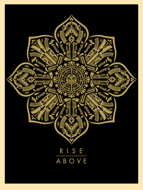 Shepard Fairey, 'Rise Above', 2015, Blackline Gallery