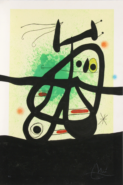 Joan Miró, 'L'Oiseau Mongol', 1969, Print, Etching and aquatint in colors with carborundum, on Arches paper, Artsy x Rago/Wright