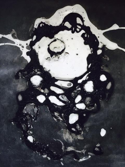 """Alyssa Warren, '""""#09"""" mixed media black and white work on paper', 2010-2017, Eisenhauer Gallery"""