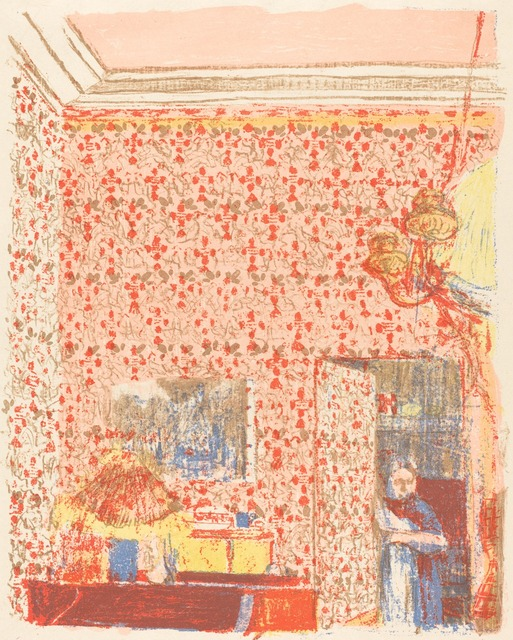Édouard Vuillard, 'Interior with Pink Wallpaper I (Interieur aux tentures roses I)', ca. 1896 (published 1899), National Gallery of Art, Washington, D.C.