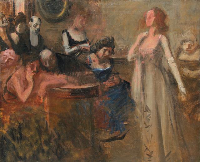 Jean-Louis Forain, 'The Recital', ca. 1900, Mark Murray Fine Paintings