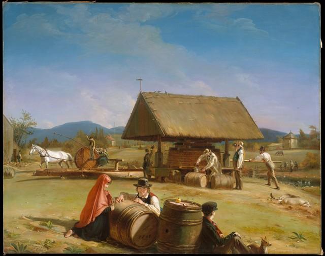 William Sidney Mount, 'Cider Making', 1840–1841, The Metropolitan Museum of Art