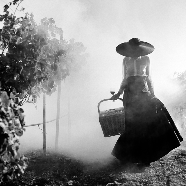 Rodney Smith, 'Woman Holding up Dress Walking through Vineyard, Napa Valley, CA', 1998, Gilman Contemporary