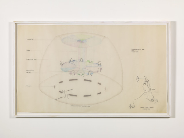 , 'Neuhaus broadcast work (final drawing) Chicago,' 1982, Alfonso Artiaco
