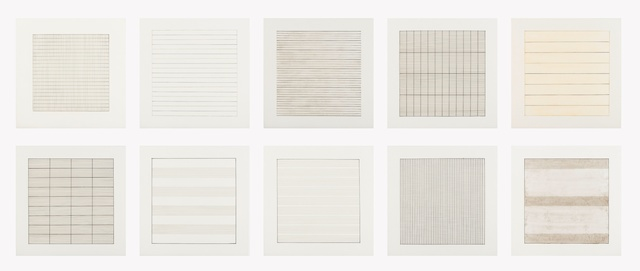Agnes Martin, 'Paintings and Drawings 1974-1990 (suite of 10)', 1991, Forum Auctions
