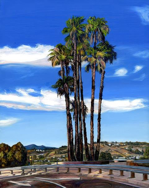 , 'Stadium Way Exit Palms,' 2015, Sue Greenwood Fine Art