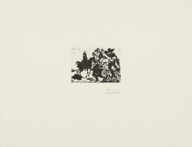 Pablo Picasso, 'Reître enlevant une femme pour le compte d'un cavalier (B. 1626; Ba. 1642)', 1968, Print, Sugar-lift aquatint and drypoint, Sotheby's