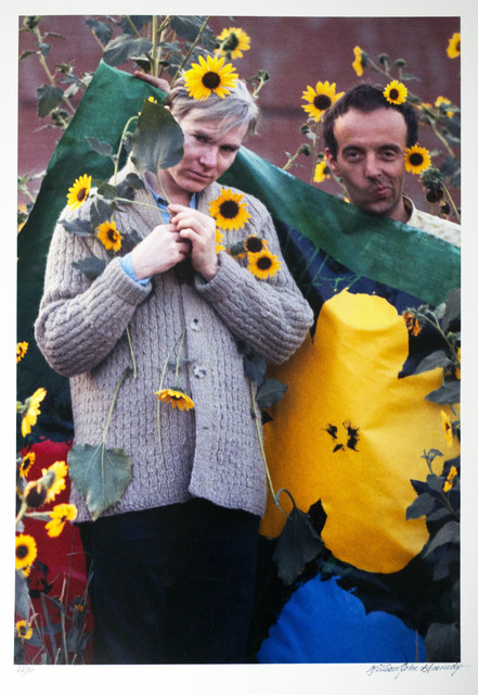 William John Kennedy, 'Andy Warhol and Taylor Mead with the Flowers canvas', 1964, William John Kennedy Collection