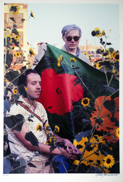 William John Kennedy, 'Andy Warhol and Taylor Mead with Flowers ', 1964, William John Kennedy Collection