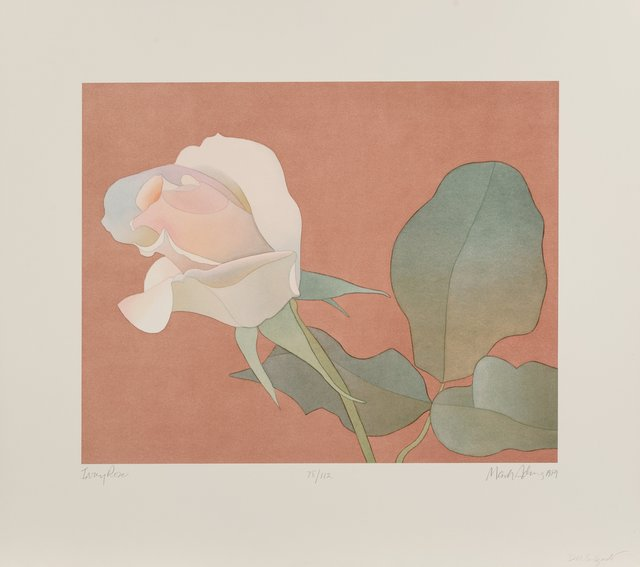 Mark Adams, 'Ivory Rose', 1989, Print, Lithograph in colors on wove paper, Heritage Auctions