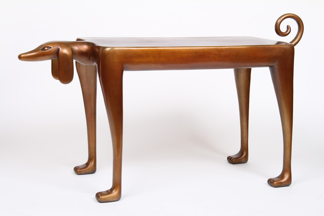 Judy Kensley McKie, 'Beagle Side Table', 2012, Sculpture, Cast bronze (edition of 8), Gallery NAGA