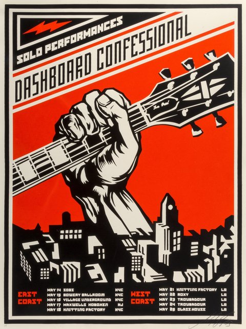 Shepard Fairey, 'Dashboard Confessional', 2002, Heritage Auctions