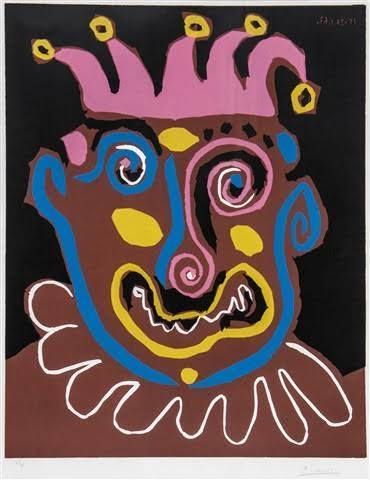 Pablo Picasso, 'Le Vieux Roi (The Old King)', 1963, Print, Linocut printed in colors on Arches wove paper, Puccio Fine Art