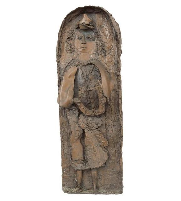 , 'Heavy Bronze Relief Plaque, Young King David with Harp,' 20th Century, Lions Gallery