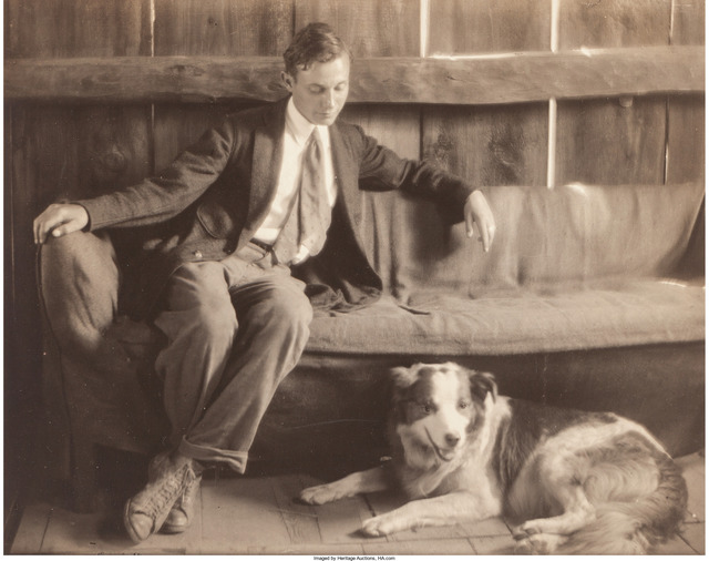 Margaret Watkins, 'Untitled, Man and Dog', 1917, Photography, Gelatin silver, Heritage Auctions