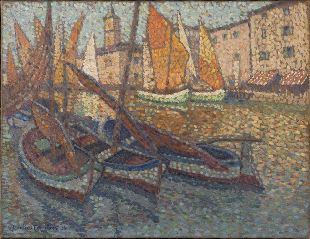 Jac Martin-Ferrieres, 'Barques dans le port', 1924, Trinity House Paintings