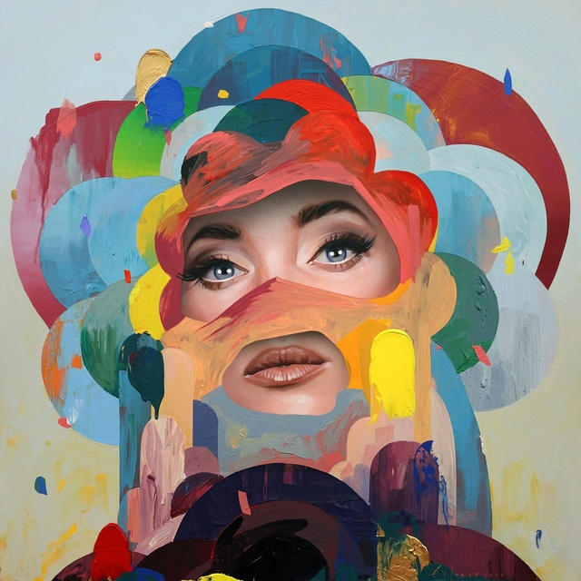 Erik Jones, 'Flower', 2018, Painting, Watercolor, pencil and acrylic on paper mounted to panel, Hashimoto Contemporary