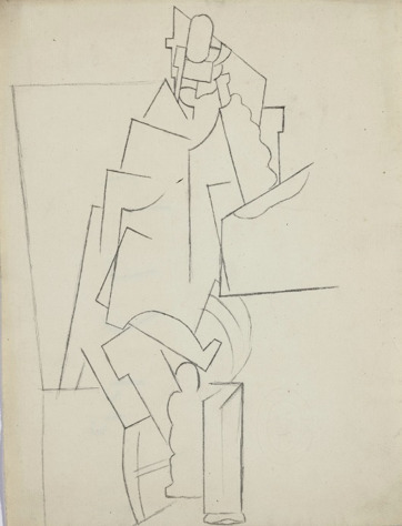 Pablo Picasso, 'Homme Assis', 1915, David Tunick, Inc.