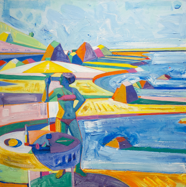 Roland Petersen, 'To the Point a Single Cloud', 2000, Painting, Acrylic on canvas, Studio Shop Gallery